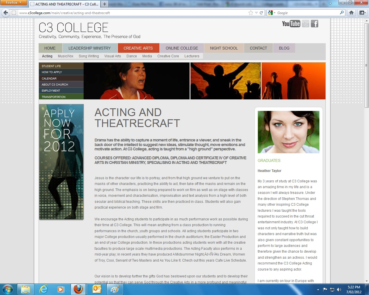 Colleges that offer a degree in creative writing